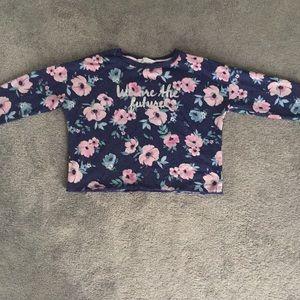 Long sleeve flower shirt for girls